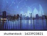 financial graph on night city... | Shutterstock . vector #1623923821
