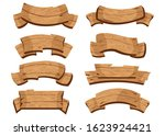 set of wooden banners with... | Shutterstock .eps vector #1623924421