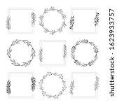 wedding style branding frames.... | Shutterstock .eps vector #1623933757