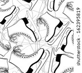 doodle seamless pattern of