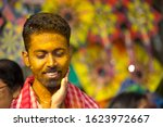 indian bengali groom in smile... | Shutterstock . vector #1623972667