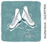 illustration with figure skates ... | Shutterstock .eps vector #162397904