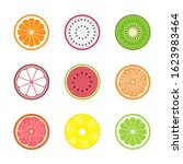 pattern fruits flat icon... | Shutterstock .eps vector #1623983464