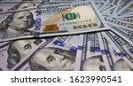 one hundred dollar bill close... | Shutterstock . vector #1623990541