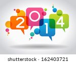 vector 2014 happy new year...