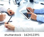 business adviser analyzing... | Shutterstock . vector #162412391