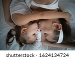 mother and daughter have fun in ... | Shutterstock . vector #1624134724
