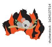 australia black silhoette.... | Shutterstock .eps vector #1624137514
