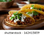 Closeup Of Pulled Pork Tacos...