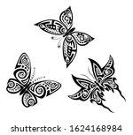set of black and white... | Shutterstock .eps vector #1624168984