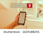 Small photo of Text sign showing Time To Set Goals. Conceptual photo Desired Objective Wanted to accomplish in the future woman using smartphone office supplies technological devices inside home.
