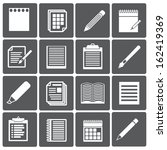 set of paper documents and... | Shutterstock .eps vector #162419369