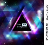triangle background with galaxy ... | Shutterstock .eps vector #162421109