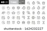 time and clock line icons.... | Shutterstock .eps vector #1624232227
