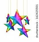 3d render colorful gradient... | Shutterstock . vector #162425501