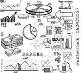 business finance doodle hand... | Shutterstock .eps vector #162425537