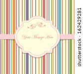 wedding card or invitation with ... | Shutterstock .eps vector #162429281