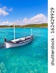menorca es grau clean port with ... | Shutterstock . vector #162429929