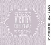 letterpress merry christmas... | Shutterstock . vector #162431309