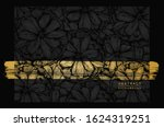 abstract black and gold floral... | Shutterstock .eps vector #1624319251