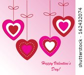 valentine's background with... | Shutterstock .eps vector #162432074