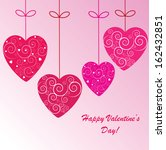 valentine's background with... | Shutterstock . vector #162432851