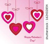 valentine's background with... | Shutterstock . vector #162432854