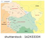 kashmir map | Shutterstock .eps vector #162433334