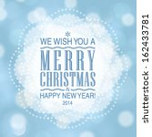 vector merry christmas and... | Shutterstock .eps vector #162433781