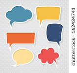 set of colorful speech bubbles | Shutterstock . vector #162434741