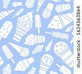 ice cream background   vector... | Shutterstock .eps vector #1624363864