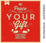 vintage christmas typographic... | Shutterstock .eps vector #162436661