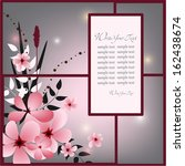 wedding card or invitation with ... | Shutterstock .eps vector #162438674