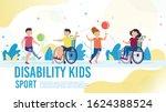 sport activity for disabled... | Shutterstock .eps vector #1624388524