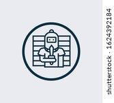 criminal icon. simple element... | Shutterstock .eps vector #1624392184