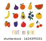 set of fruits and berries... | Shutterstock .eps vector #1624395331