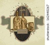 vector beer background | Shutterstock .eps vector #162440267