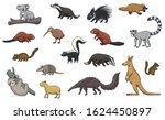 animal cartoon icons of hunting ... | Shutterstock .eps vector #1624450897