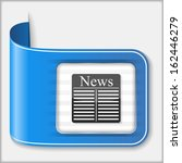 abstract icon of a newspaper