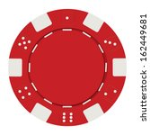 single red casino chip isolated ... | Shutterstock .eps vector #162449681