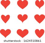 red heart icon vector. flat... | Shutterstock .eps vector #1624510861
