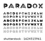 paradox shape font. impossible... | Shutterstock .eps vector #1624515961