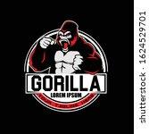 aggressive gorilla or... | Shutterstock .eps vector #1624529701
