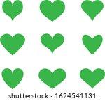 Green Heart Icon Vector. Flat...