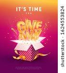 giveaway word above open box... | Shutterstock .eps vector #1624553824