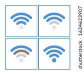 wifi icon for your web site and ... | Shutterstock .eps vector #1624623907