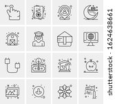 16 business universal icons... | Shutterstock .eps vector #1624638661