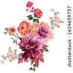 Digital Textile Design Flower...