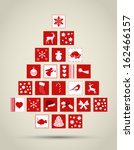 abstract christmas tree made of ... | Shutterstock .eps vector #162466157