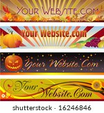 autumn mastheads for your web... | Shutterstock .eps vector #16246846